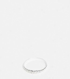 Кольцо из стерлингового серебра с плетеным дизайном Kingsley Ryan Curve-Серебристый