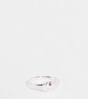 Кольцо-талисман из стерлингового серебра со светлым аметистом Kingsley Ryan June-Серебристый